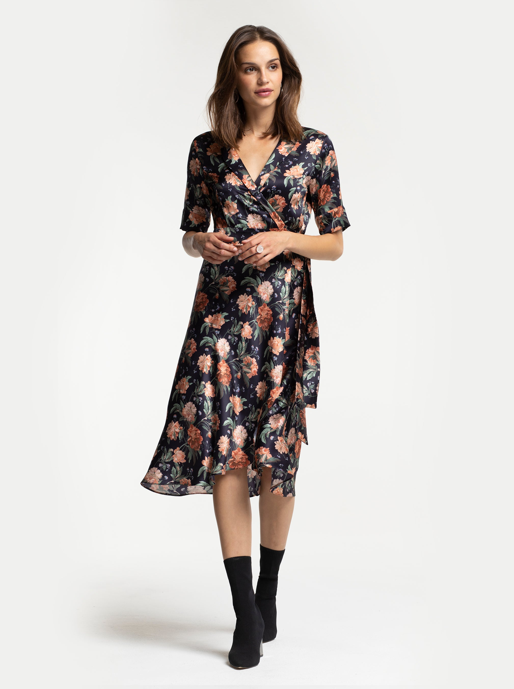 SALLY WRAP DRESS