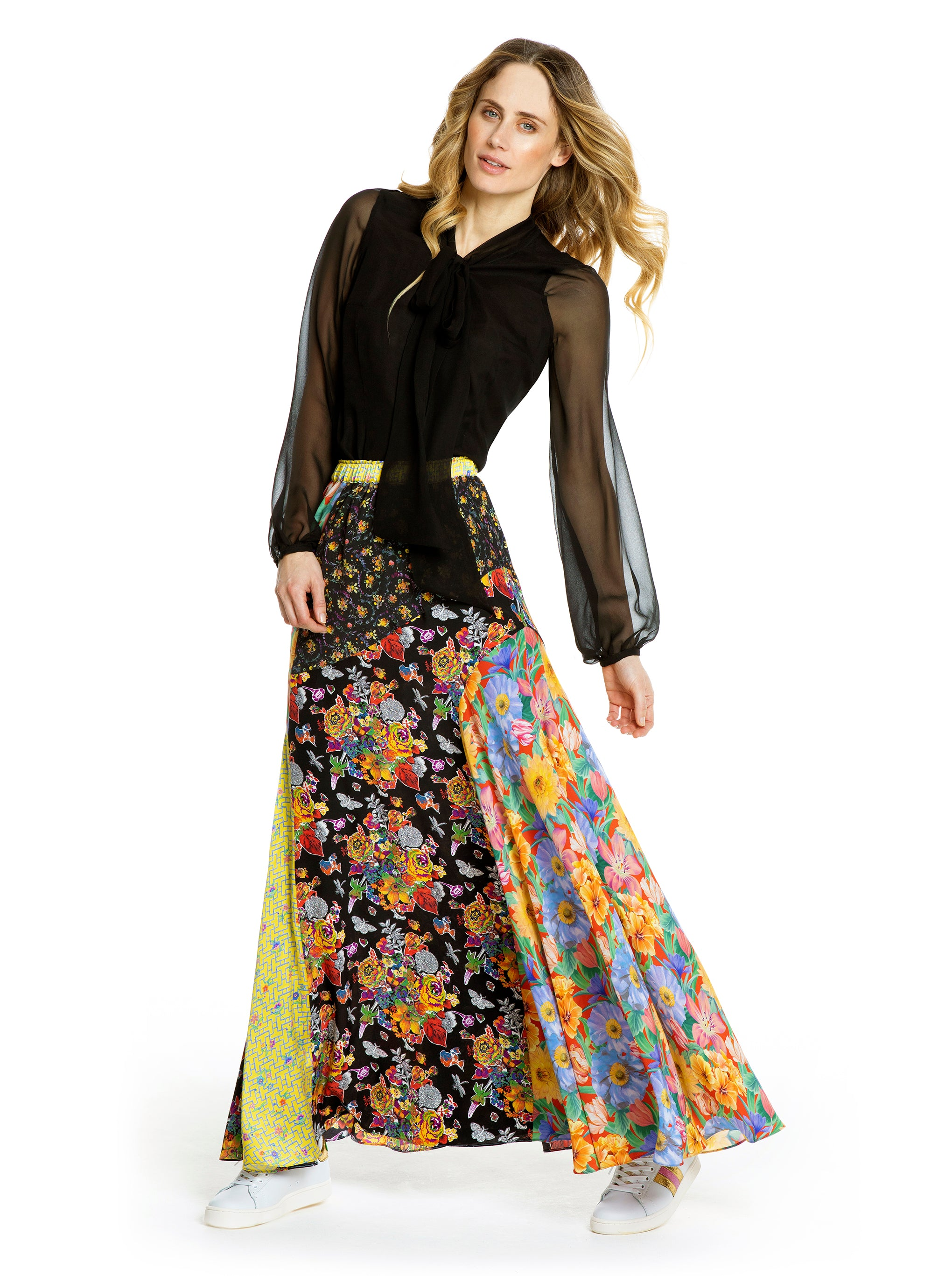 MELODY KALEIDOSCOPE MAXI SKIRT