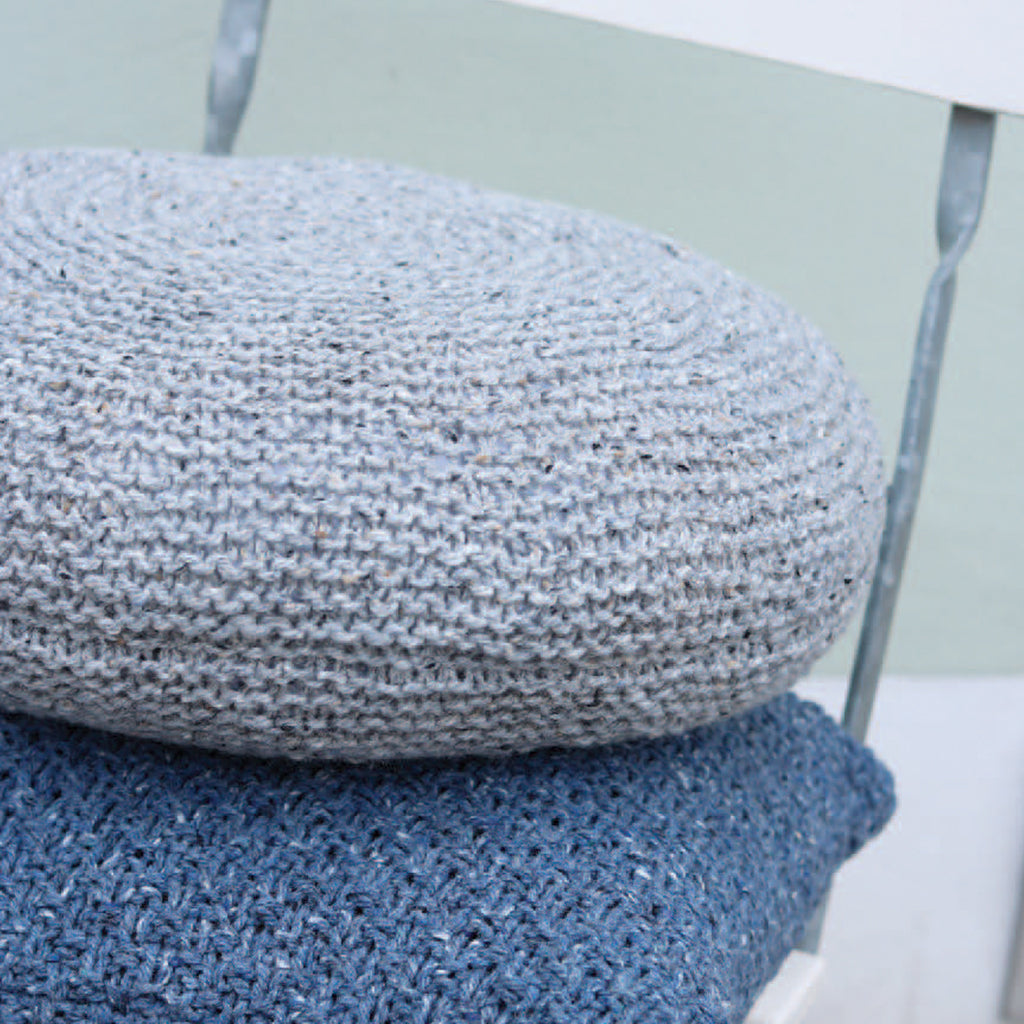 Carrie S Round Knitted Cushion Downloadable Knitting Pattern