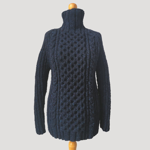 Cable and Rib Raglan Jumper