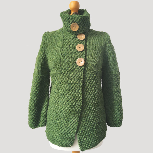 Cropped Double Moss Stitch Jacket
