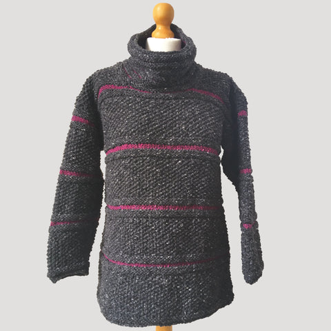 Moss Stitch Ridged Jumper