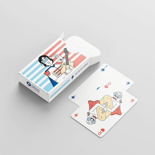 Un jeu de 54 cartes édition superstars