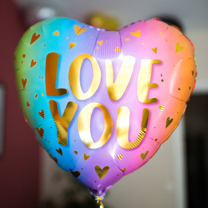 Ballon Love You Pastel