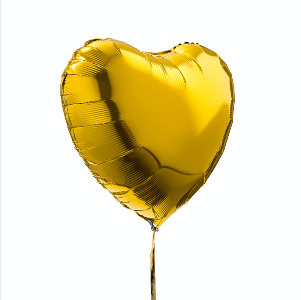Ballon Coeur Or