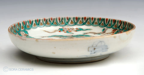 Imari small plates, polychrome on white