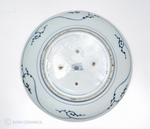old Imari blue and white large plate