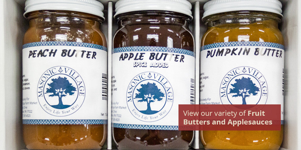 View our variety of Fruit Butters and Applesauces