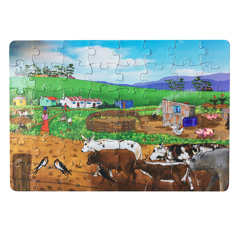 A Rural Village, Eastern Cape Puzzle, Ruben Du Plessis, Puzzles- The Wild Coast Trading Company