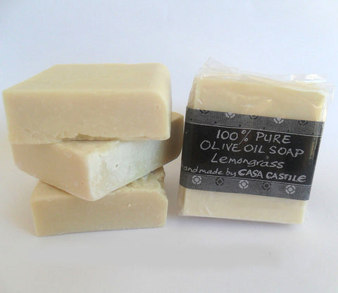 Lemongrass Olive Oil Soap Bar, Casa Castile, Soap- The Wild Coast Trading Company