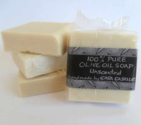 Unscented Olive Oil Soap Bar, Casa Castile, Soap- The Wild Coast Trading Company