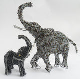 Elephant - African Beaded Wire Animal Sculpture, Clever Wire, Wire Animal Sculptures- The Wild Coast Trading Company
