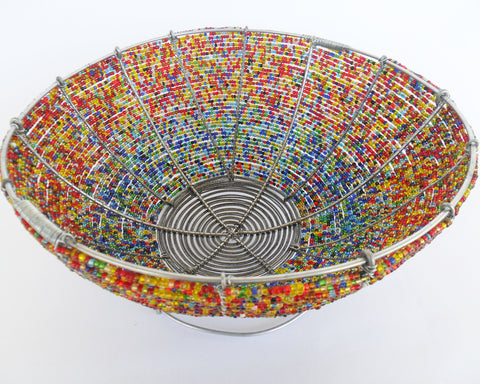 Bowl - African Beaded Wire Fruit Bowls, Clever Wire, Fruit Bowls- The Wild Coast Trading Company