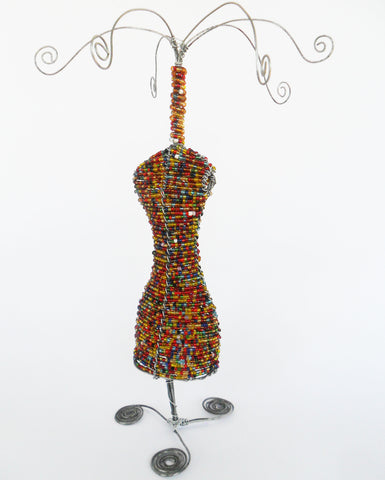 Jewellery Stand - Woman - African Beaded Wire, Clever Wire, Jewellery Stands- The Wild Coast Trading Company