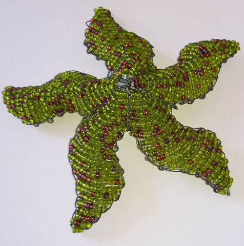 Starfish - African Beaded Wire Animal Sculpture, Clever Wire, Wire Animal Sculptures- The Wild Coast Trading Company