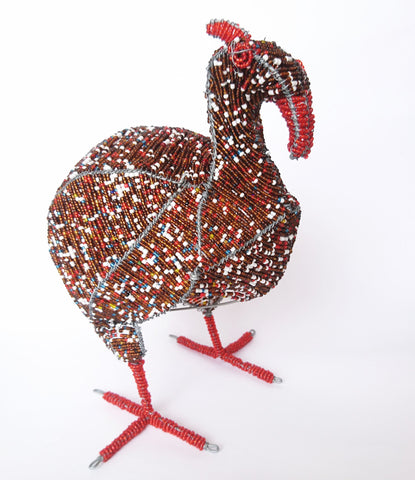 Wire Craft Guinea Fowl, Howard Ntaka, Wire Animal Sculptures- The Wild Coast Trading Company