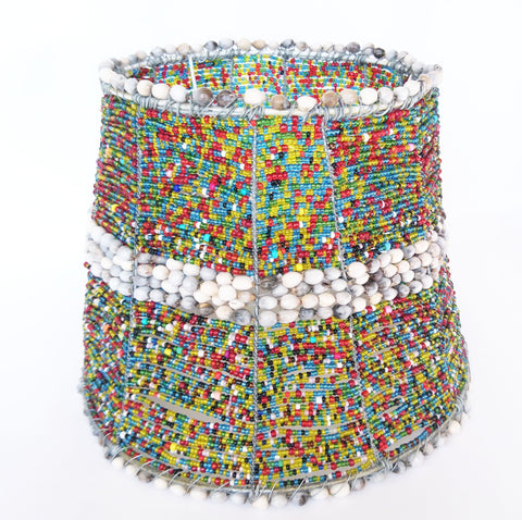 Beaded Lampshade, Howard Ntaka, Lampshades- The Wild Coast Trading Company