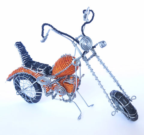 Wire Craft Harley Davidson Motorbikes, Howard Ntaka, Wire Sculptures- The Wild Coast Trading Company