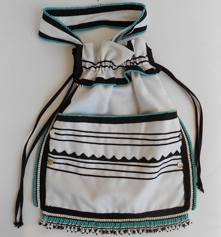 Traditional Drawstring Bag Ixili, Iza Crafts, Bags- The Wild Coast Trading Company