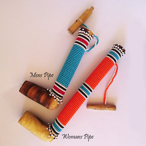 Beaded Xhosa Pipe, Iza Crafts, Pipes- The Wild Coast Trading Company