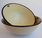 Black & White Ceramic Bowls, John Steele, Bowls- The Wild Coast Trading Company