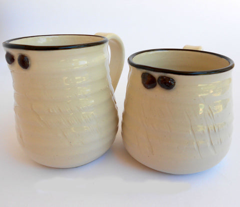 Black & White Ceramic Cups, John Steele, Cups- The Wild Coast Trading Company