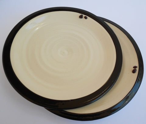 Black & White Ceramic Plates, John Steele, Plates- The Wild Coast Trading Company