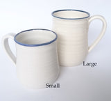 Blue & White Ceramic Coffee Mugs, John Steele, Mugs- The Wild Coast Trading Company