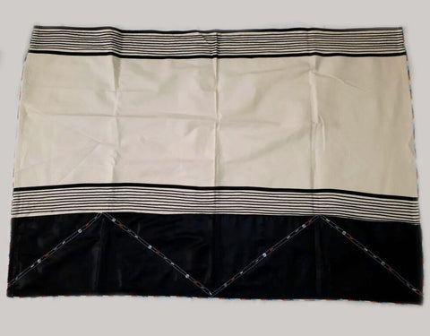 Xhosa Bhayi Shawl Blanket with Thick Black Panel