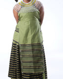Xhosa Umbhaco Ncebtha Apron with Two Tone Braiding