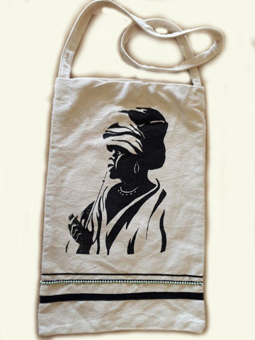 Inxili Xhosa bag with Smoking Woman Screenprint