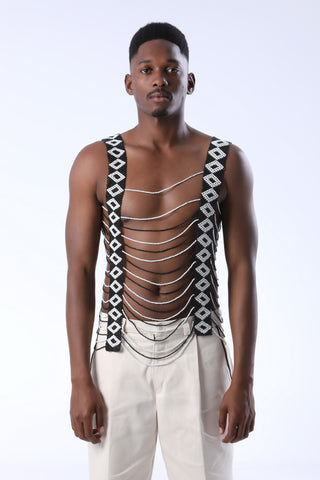 Beaded Xhosa Vest for Men