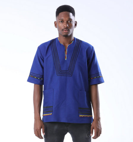 Boys Traditional Beaded Xhosa Shirt