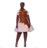 Designer African Off Shoulder Doll Dress