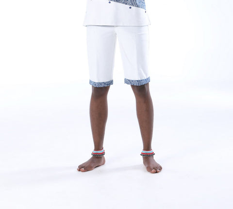 Mens Umbhaco Shorts with Shweshwe Highlights