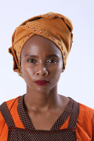 Melton Rectangle Beaded African Doek