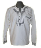 Mens African Umbhaco Braided Shirt