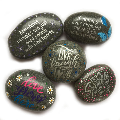 Medium Hand Painted Stones