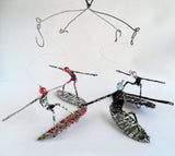 Recycled Silver Surfers Mobile, Percy mNguni, Mobiles- The Wild Coast Trading Company