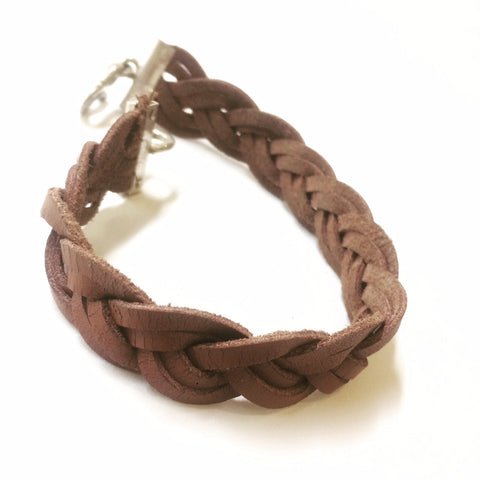 Hand Plaited Leather Bracelet