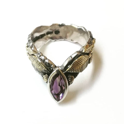 Secret Garden Range – Amethyst & Sterling Silver Ring
