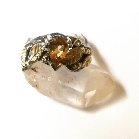 Secret Garden Range – Citrine & Sterling Silver Ring
