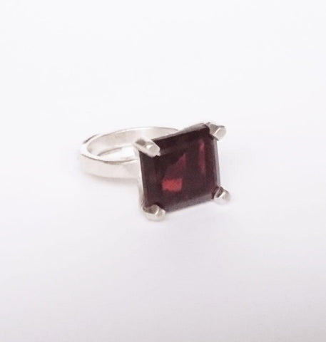 Red Garnet Statement Sterling Silver Ring, Wild By Design, Rings- The Wild Coast Trading Company