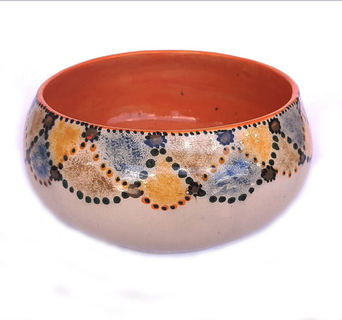Ceramic Pot with Orange Inside