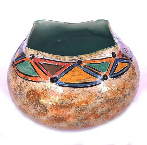 Square Top Clay Pot