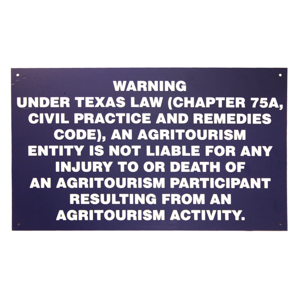 20X12 Metal Agritourism Gate Sign