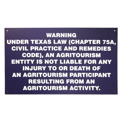 Agritourism 20X12 Gate Sign
