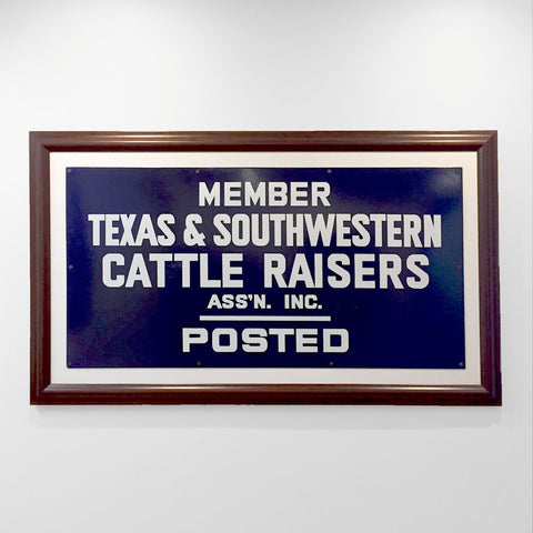 Framed 20x12 Gate Sign