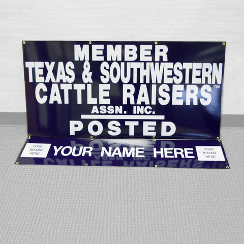"48""x 24"" Personalized Gate Sign w/ 48"" x 12"" ID Panel"
