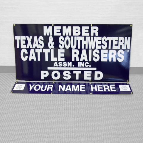"48""x 24"" Personalized Gate Sign w/ 48"" x 8"" ID Panel"